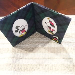 Disney Mickey Minnie Mouse Plaid Picture Frame
